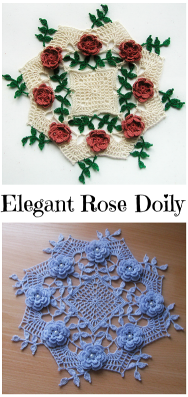 Elegant Rose Doily Crochet Ideas