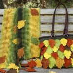 Fall Leaves Scarf And Handbag