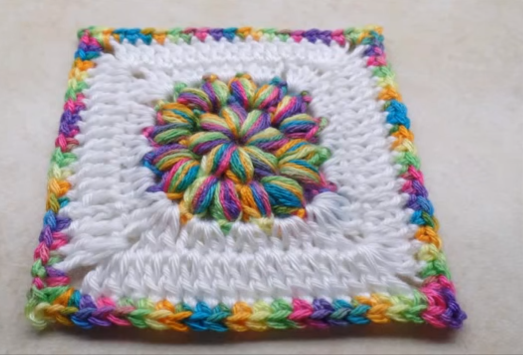 Puff Circle Granny Square (Video Tutorial)