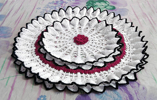 Magnolia Blossom Decorative Doily