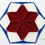 Quilt Inspired Star Hexagon Afghan Block