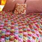 Multi-colored Starflower Bedspread