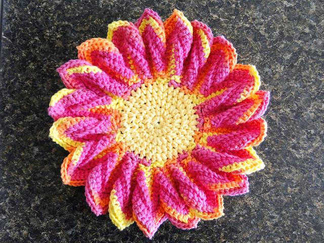 Plum Blossom Dishcloth