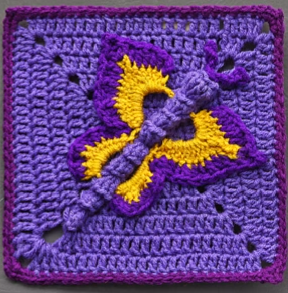Crochet Butterfly Granny Square