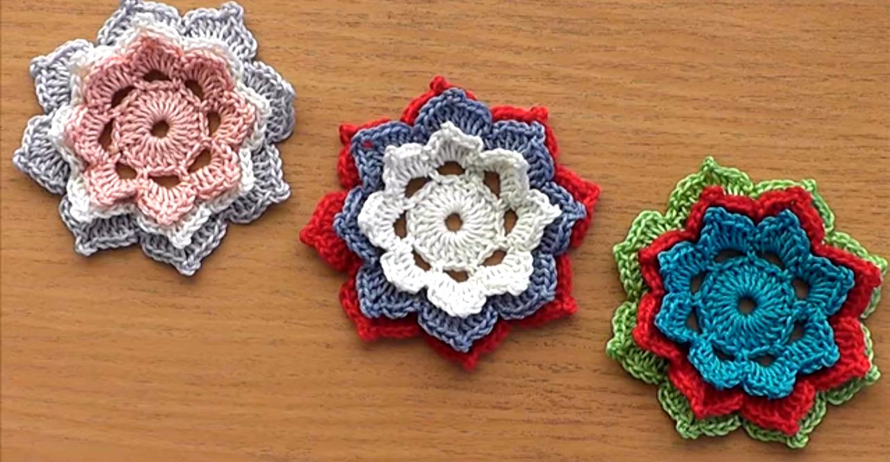 Easy Crochet Flower Tutorial