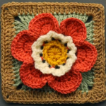 3 D Flower Granny Square