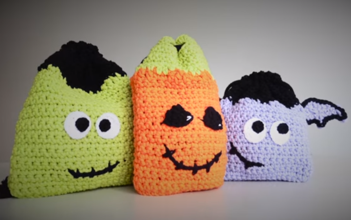 How To Crochet HALLOWEEN Bags