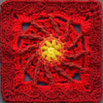 Red Granny Square Tutorial