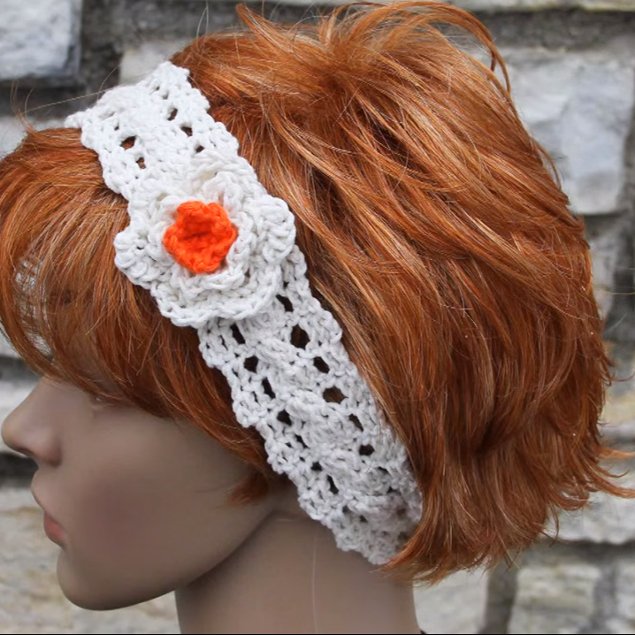 Headband With A Flower