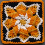 Lovely Pinwheel Star Square Tutorial