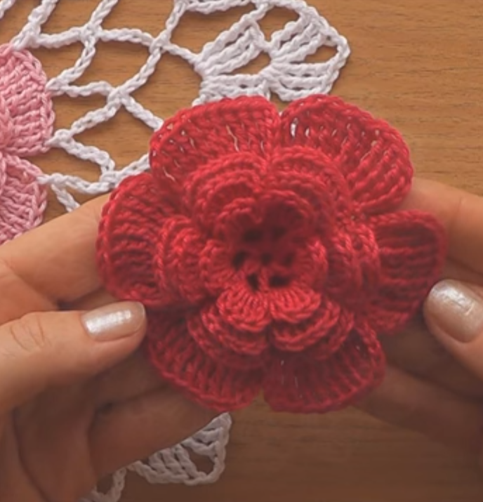 Crochet Doily Flower Part 1
