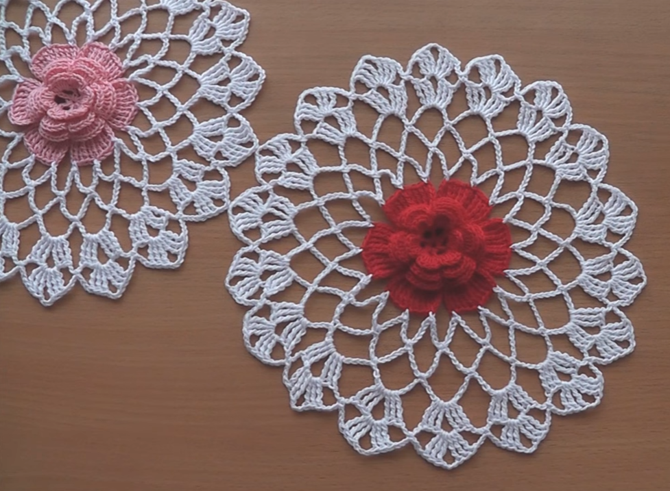 Crochet Doily Flower Part 2
