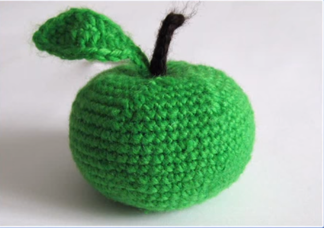 Crochet Toy Apple