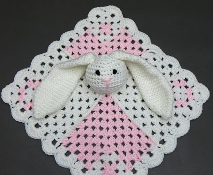 Bunny Lovey Mini Square