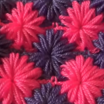 Asterisks Of Puff Stitch