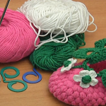 Raspberry Baby Booties Tutorial
