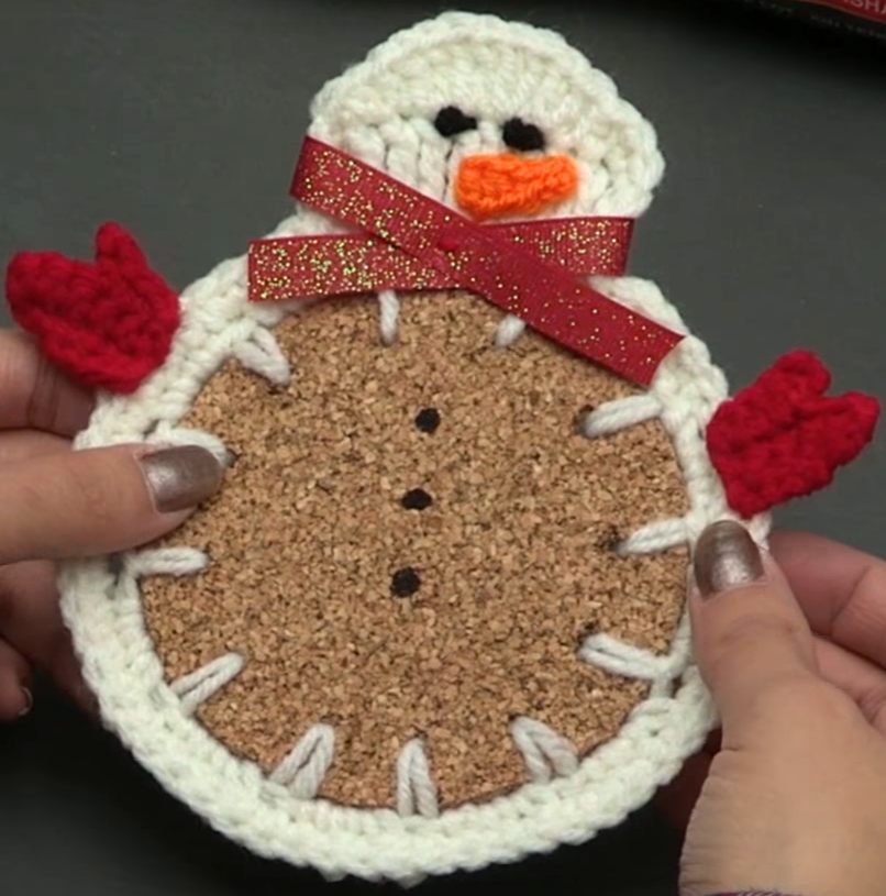 DIY Snowman Coaster