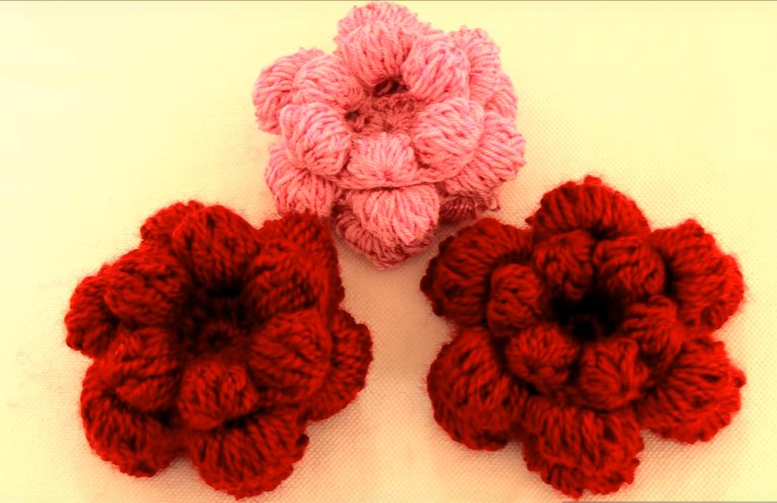 Sponge Pom-Pom Flower