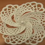 Crochet 6 Petal Adorable Flower