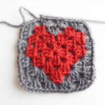 Heart Granny Square Hat