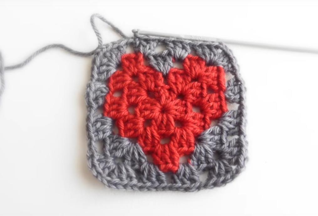 Heart Granny Square Hat