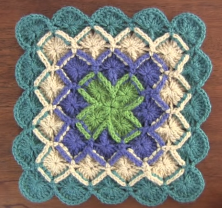 Bavarian Stitch Square