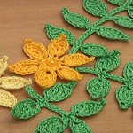 How To Crochet Leaf Branch