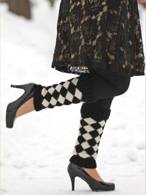 Crochet Harlequin Legwarmers