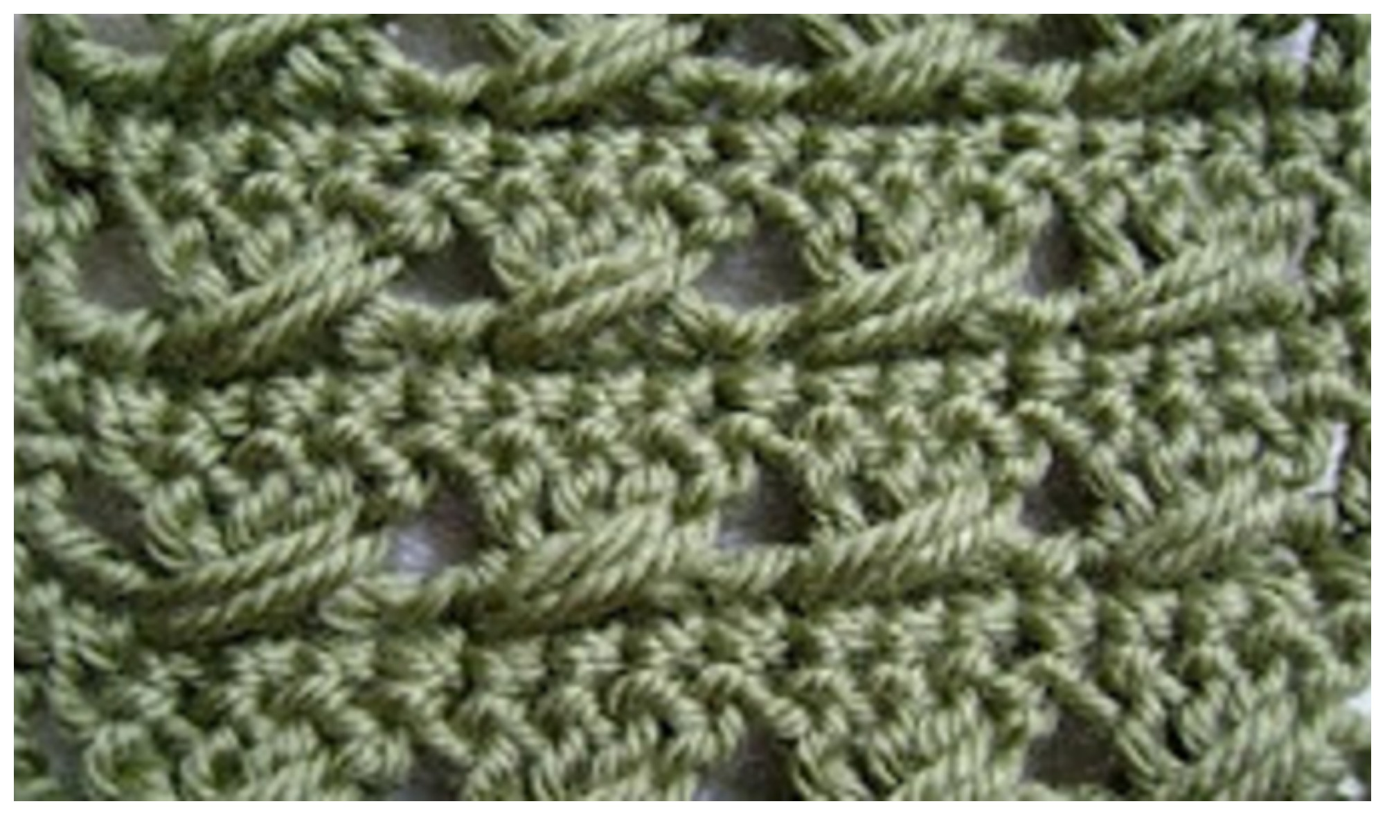Double Crochet With A Twist