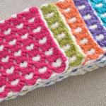 Crochet Reversible Heart Square Tutorial