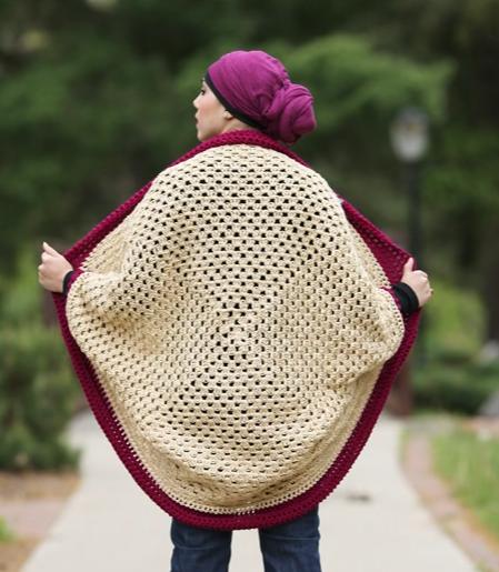 Granny Square Cocoon Sweater Cardigan