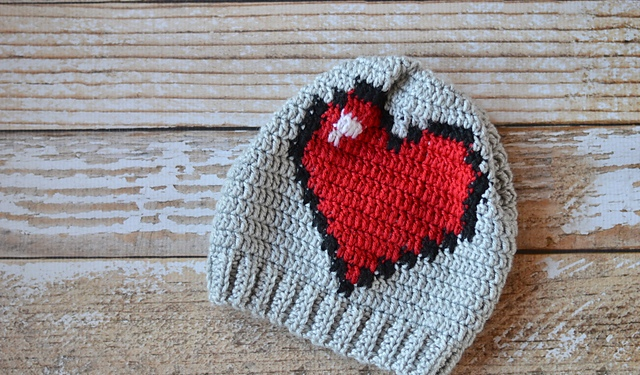 Big Heart Hat Beanie