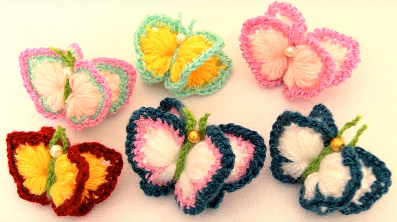 Crochet 3 D Butterflies