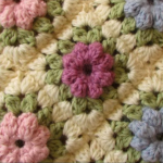Easy Puff Stitch Flower Blanket