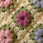 Easy Puff Stitch Flower Blanket