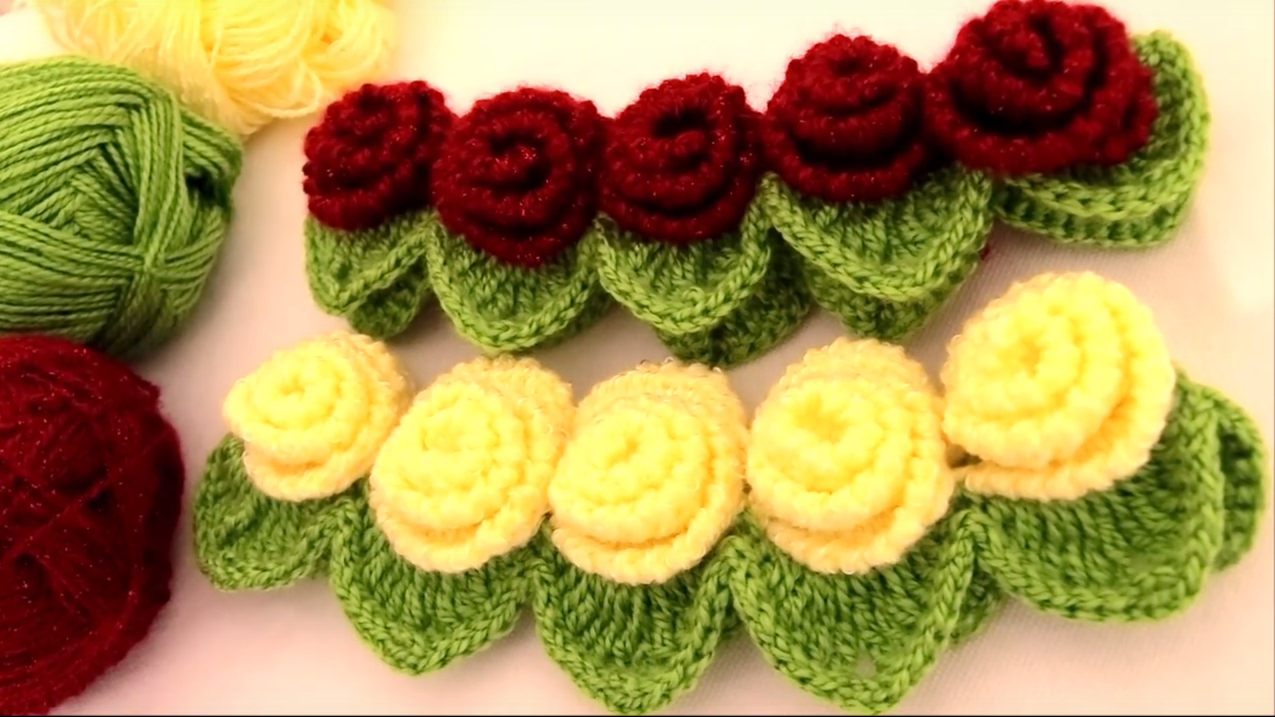Headband With Roses and Leafs