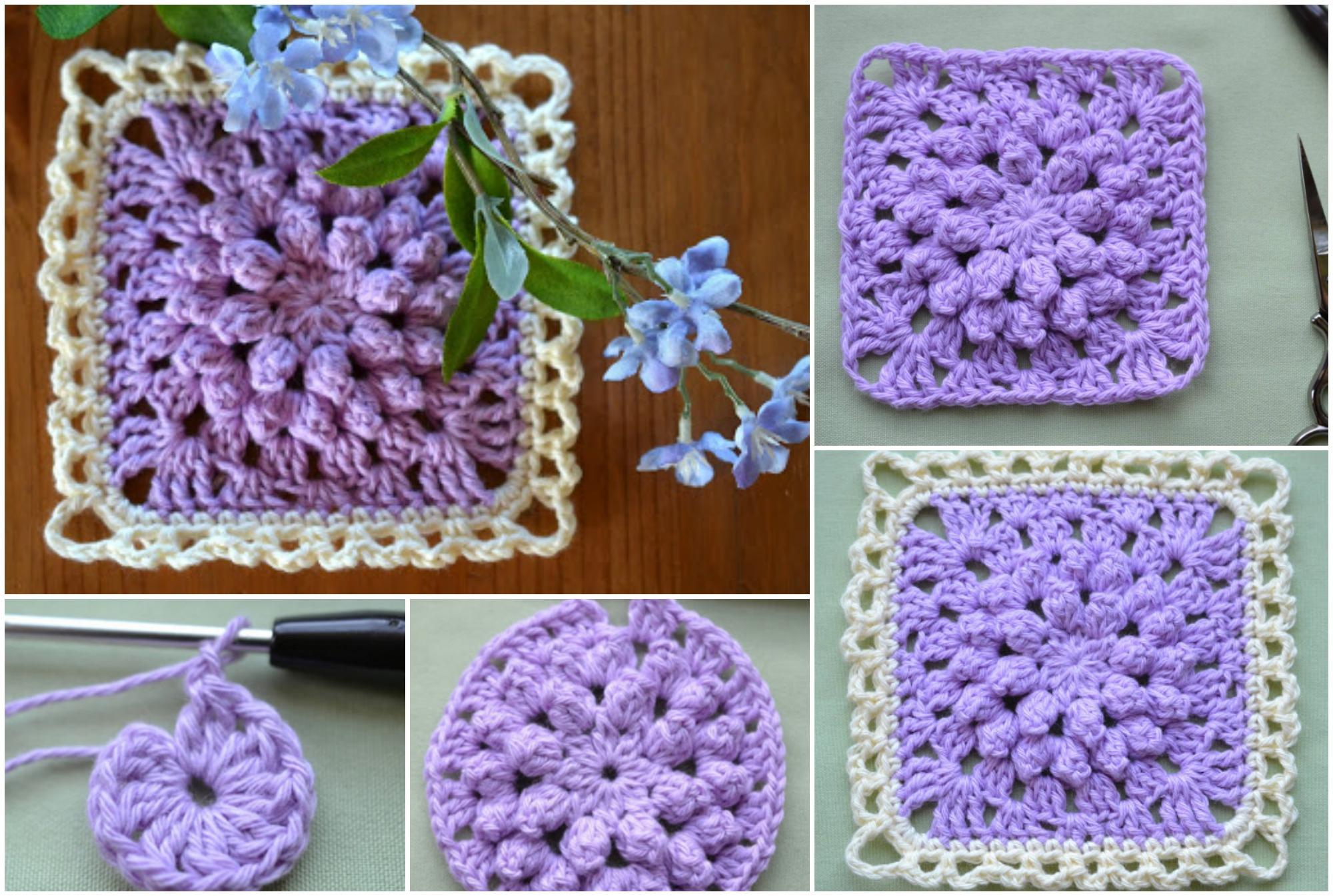 Popcorn Stitch Granny Square Crochet Ideas