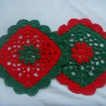 Pretty Scallops Dishcloth