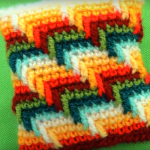 Cover For Pillows (Rainbow Stitch)