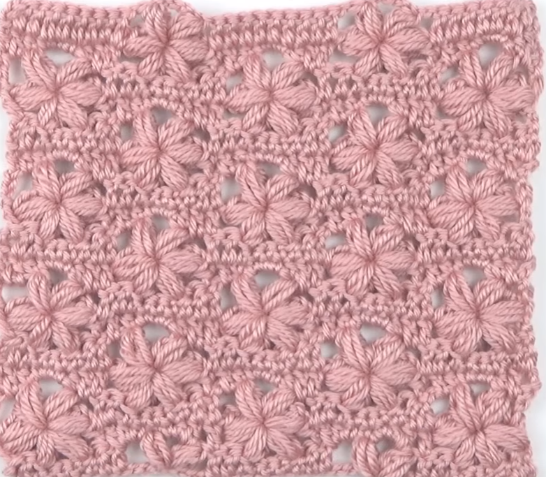 Lovely Crochet Stitch With Flower Variation