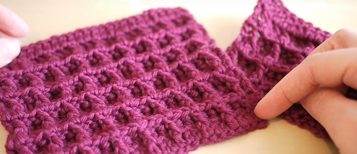 How To Crochet The Waffle Stitch