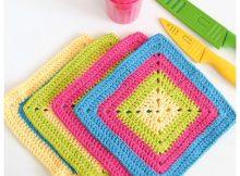 Bright-Granny-Square-Dishcloths (2)