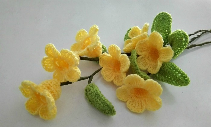 How To Make Trumpet Crochet flower