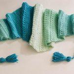 Crochet Snow Drops Mod Scarf