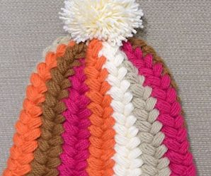 Horizontal Puff Braids Hat