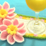 Longish Doily With Adorable Flowers