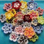 DIY Crochet Flower With Button