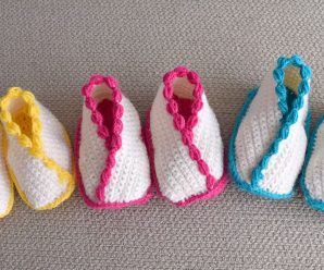 Crochet Kimono Shoes For Babies