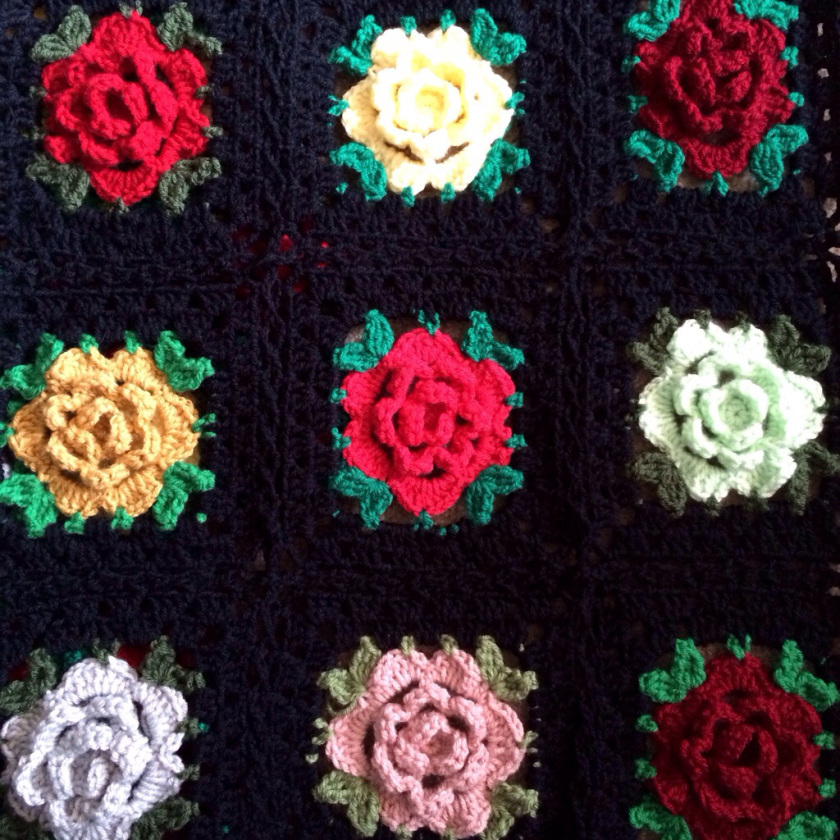 Crochet Rose Granny Square Crochet Ideas