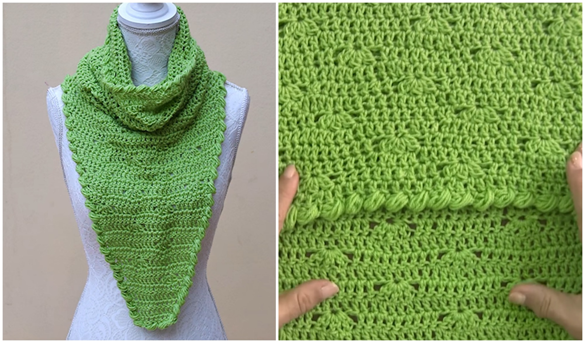 Crochet Collar Scarf Tutorial